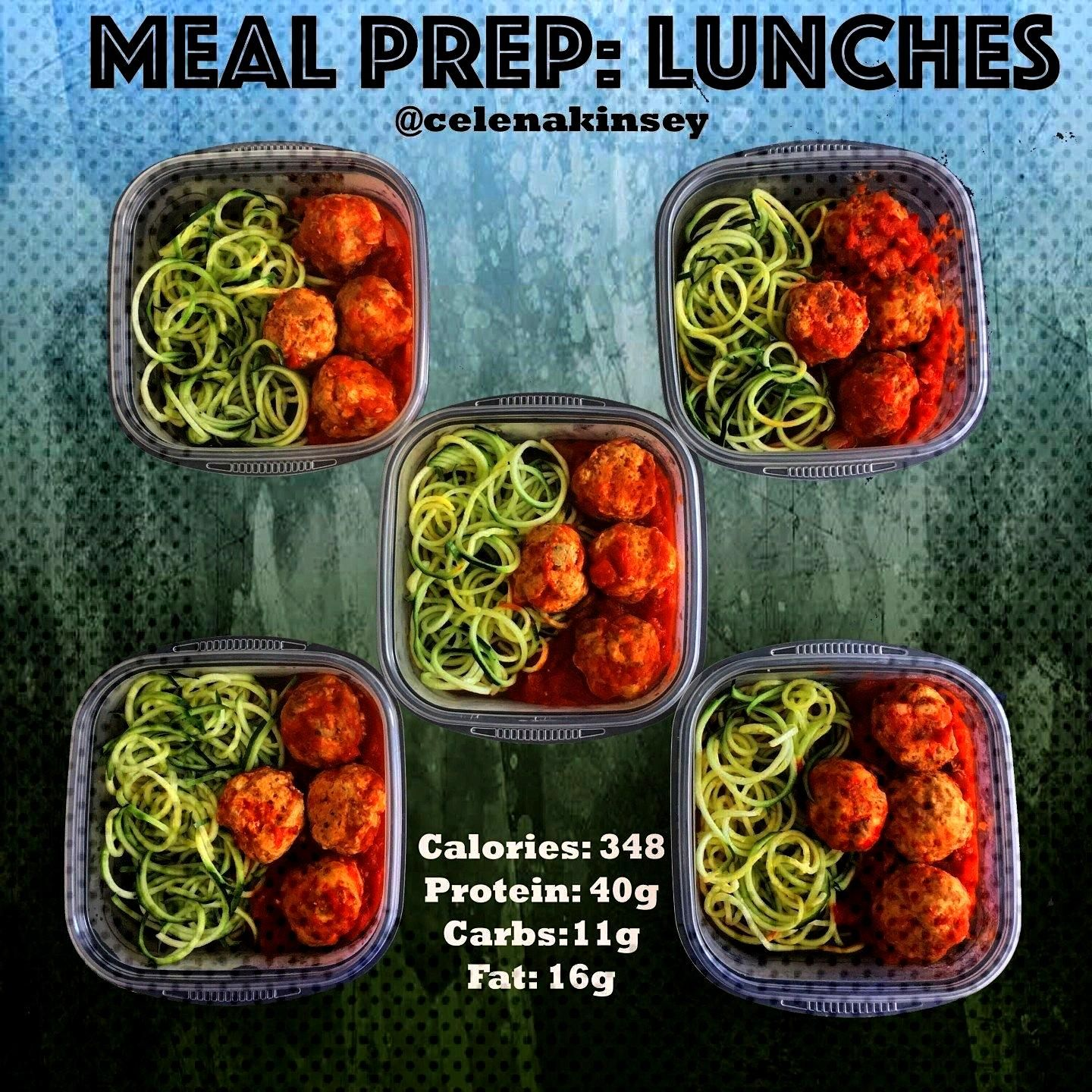 Prep Lunches Zoodles amp Paleo Meatballs - Celena Kinsey, Meal Prep Lunches Zoodles amp Paleo Meatba