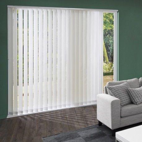 lamelles verticales voile blanc stores californiens stores lamelles verticales blanc. Black Bedroom Furniture Sets. Home Design Ideas