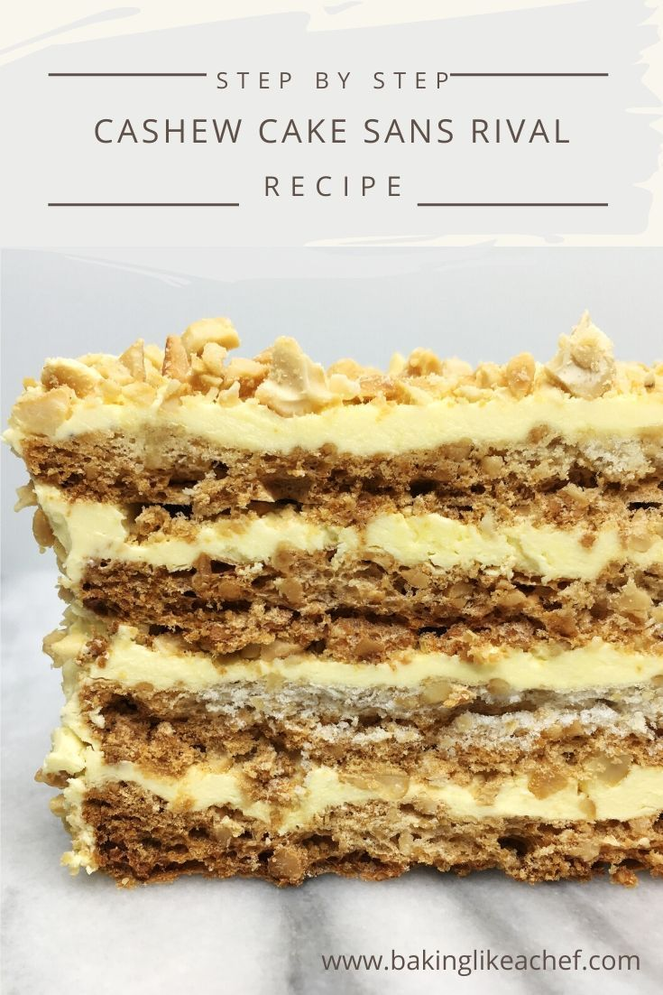 Layer cashew cake sans rival recipe in 2020 desserts