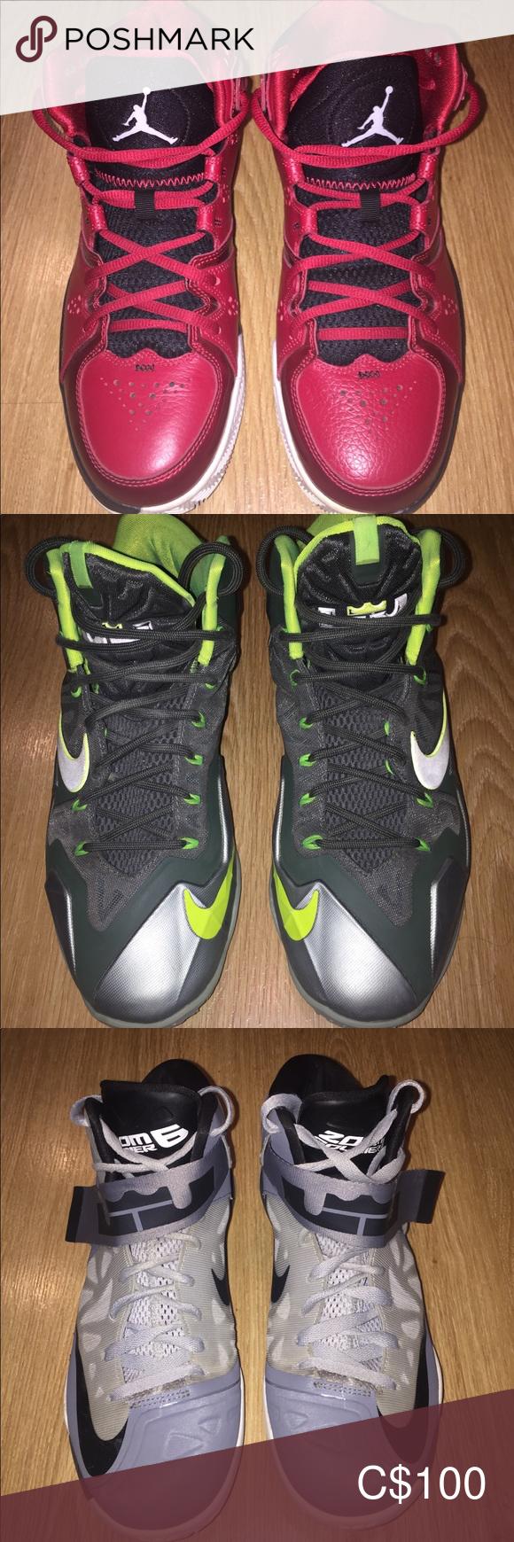 Jordan's \u0026 Lebron basketball shoes Red