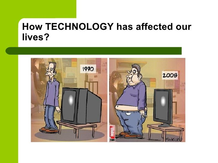 How TECHNOLOGY has affected ourlives?
