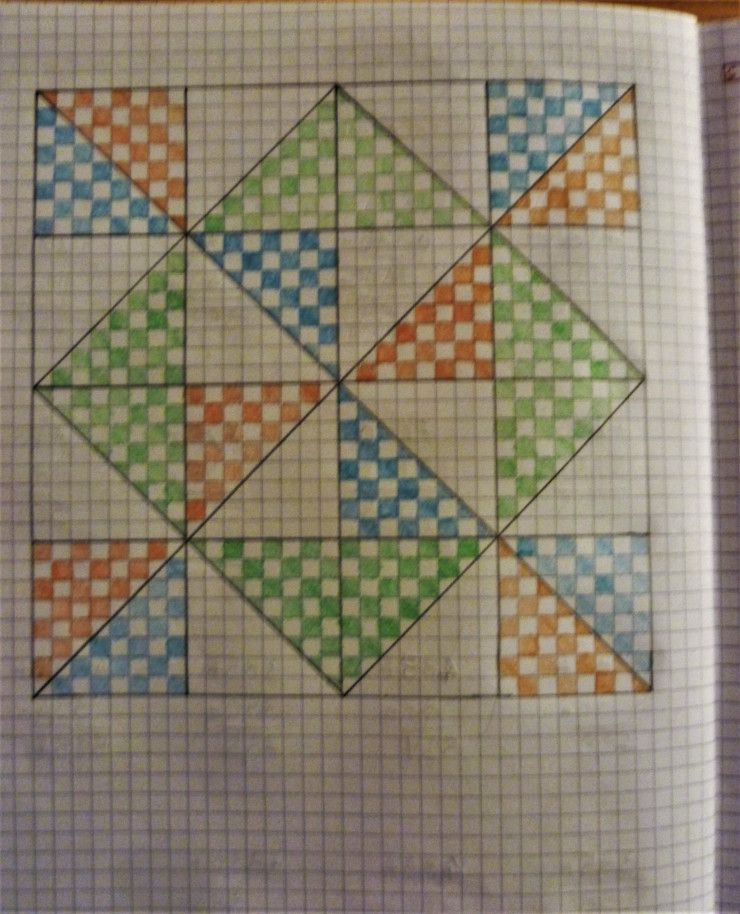 Quaderni di matematica di cl 5^ e metodo analogico English - triangular graph paper