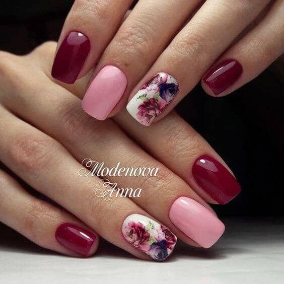 27 hübsche Blumen-Nagel-Inspirationen