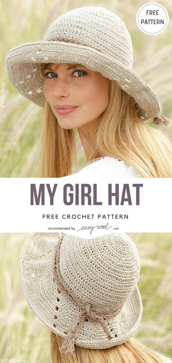 My Girl Hat Free Crochet Pattern on Easywool.com #crochethat ...