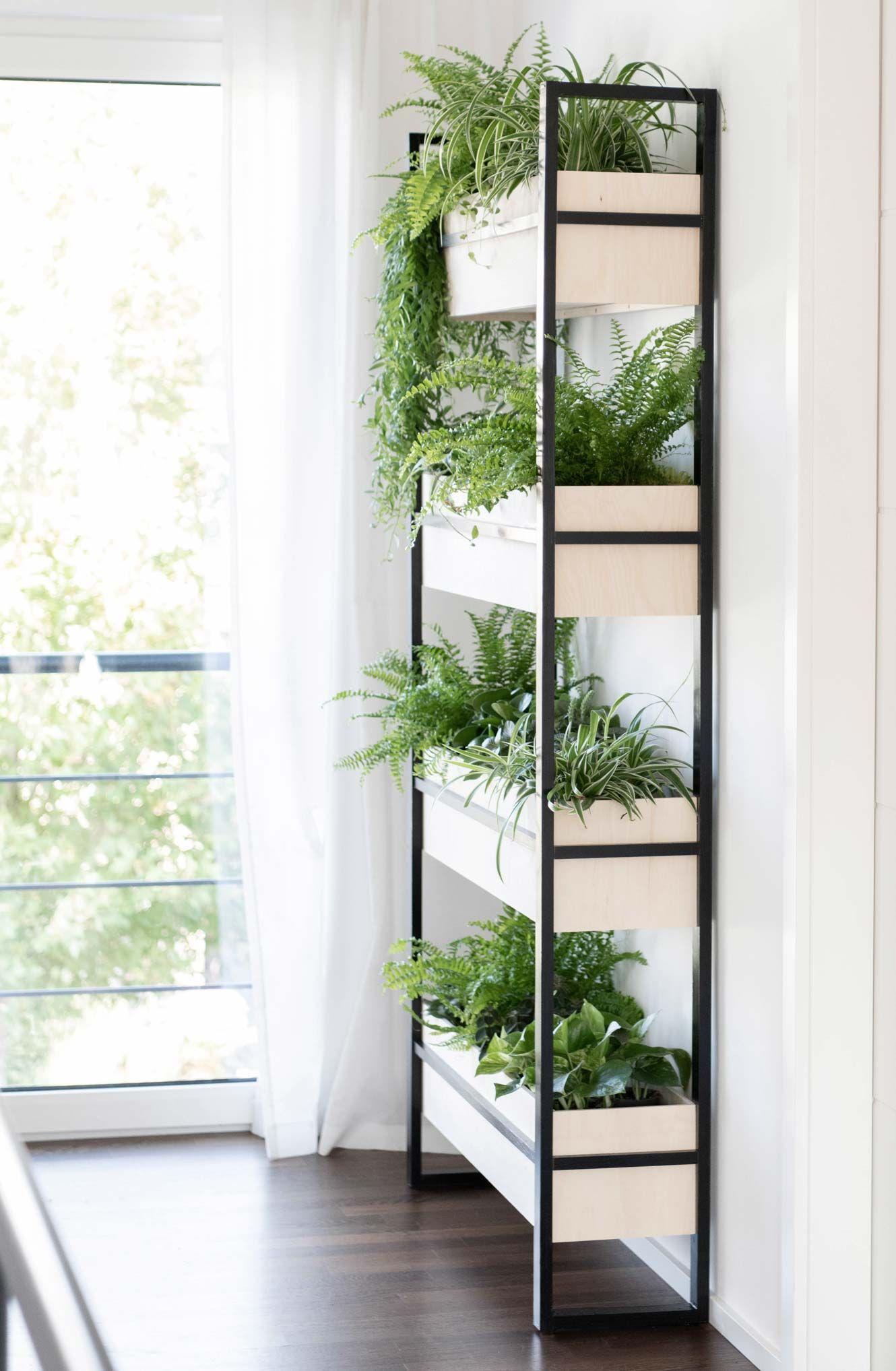 Diy Urban Jungle Pflanzenregal Pflanzenregale Wohnung Balkon Garten Und Pflanzen