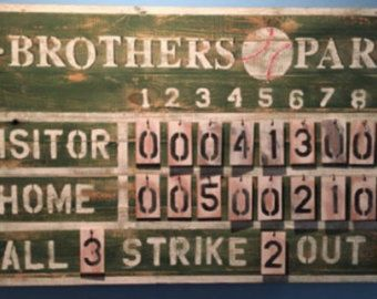 Customized Rustic Baseball Vintage Sports By RockPaperSawzall