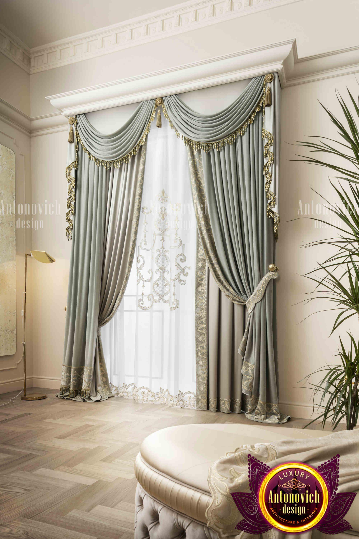 Custom Made Curtains And Stylish Design Luxury Bedroom Design