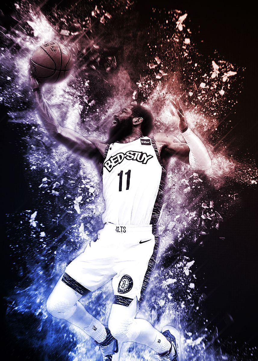 kyrie irving poster print by angela