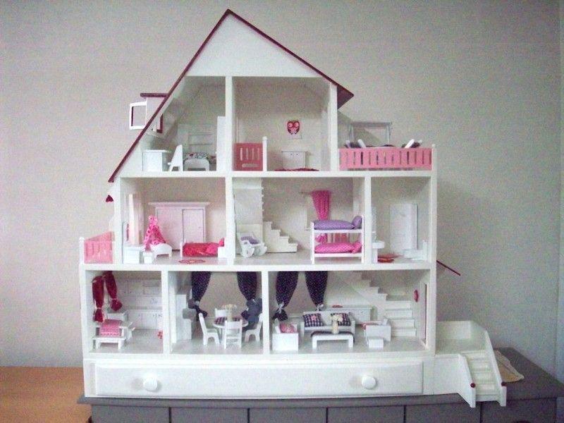 Ik wilde een poppenhuis maken voor mijn dochter zo een for Barbiehuis meubels