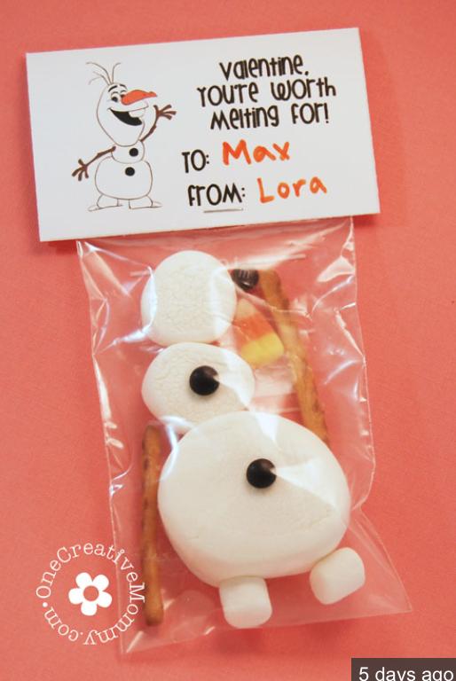 Frozen Olaf Valentines Free Printable Crafts Valentine