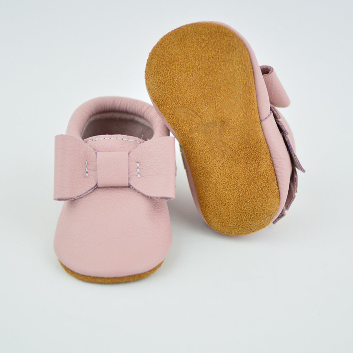 abe840e4c2feb New) Blush Pink Bow Moccs | A few of Maddie favorite things | Pink ...