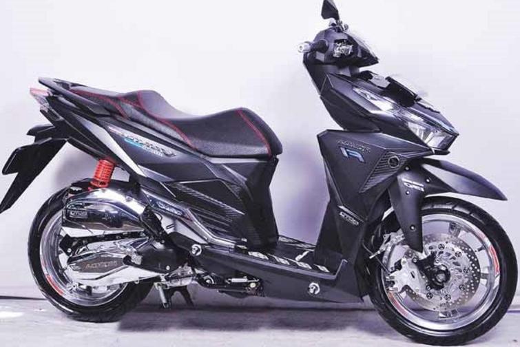 Modifikasi Honda Vario 150 Esp Simple Hitam Desain Pinterest