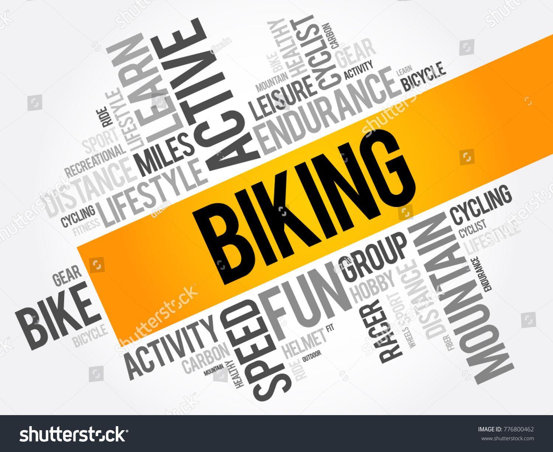 Biking word cloud collage sport concept background ad