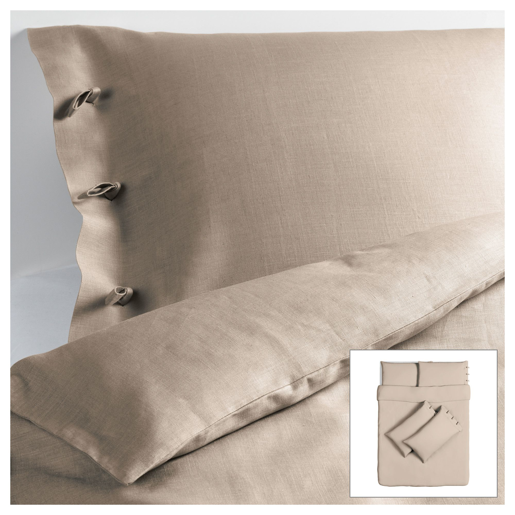 LINBLOMMA Quilt cover and 4 pillowcases   200x200/50x80 cm   IKEA