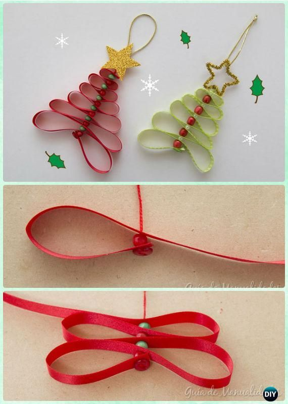 20 Easy DIY Christmas Ornament Craft Ideas For Kids to Make - #christmas #craft #ideas #ornament #ribbonart