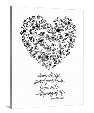 Another Great Find On Zulily Guard Your Heart Coloring Canvas