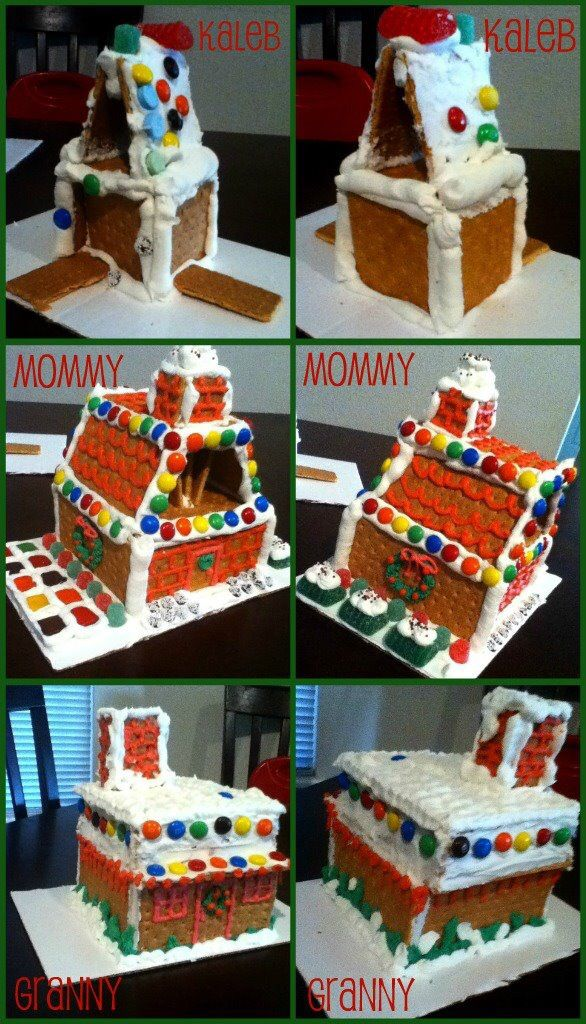 Making gingerbread houses at Christmas. It's always fun to see how they all turn out!