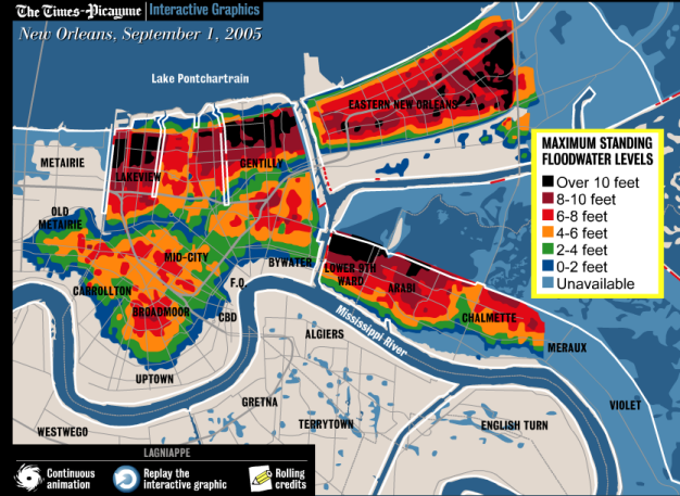Hurricane Katrina New Orleans Map.New Orleans Levee Breaches Part Ii Ok This Is Cool Pinterest