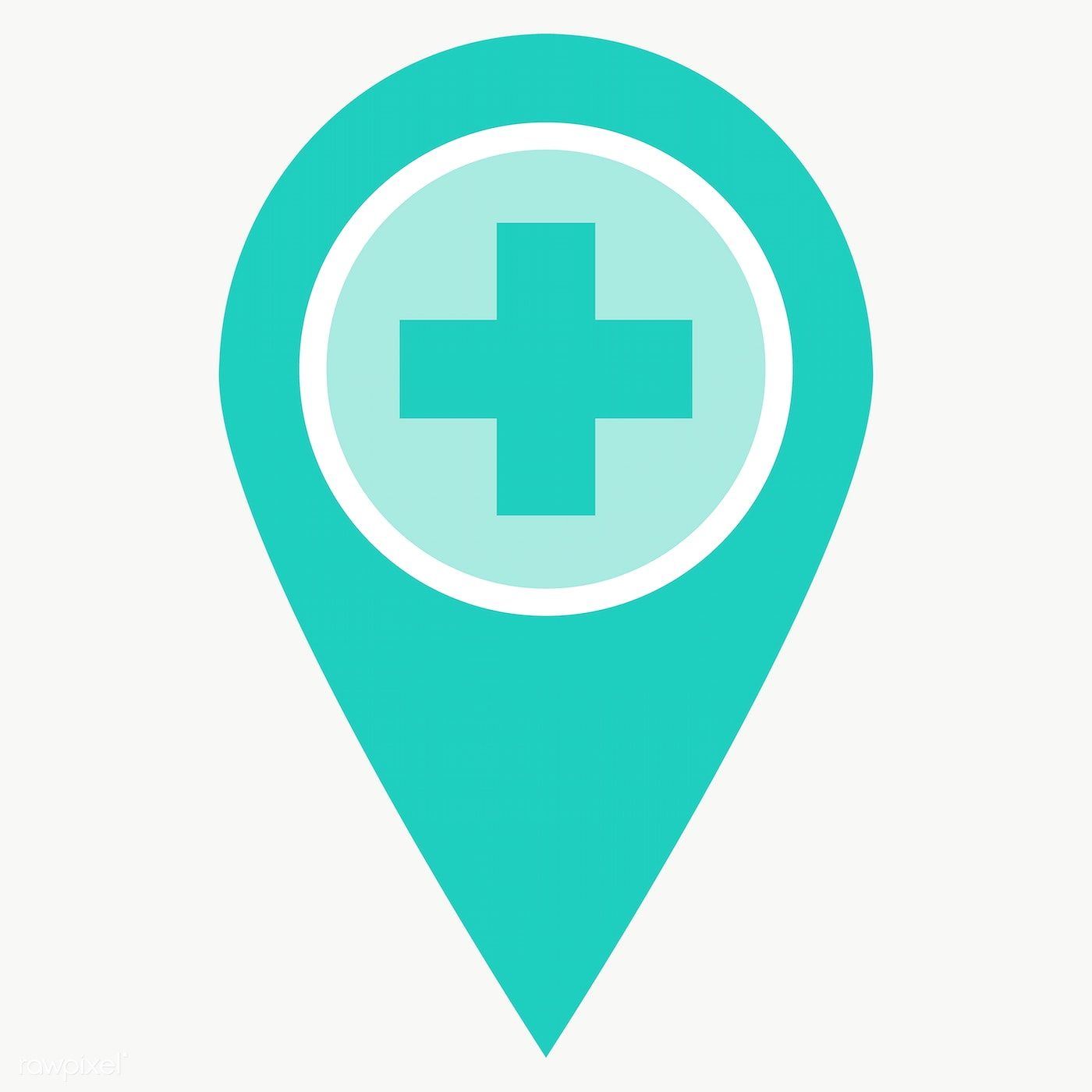 Green Medical Location Pin Element Transparent Png Free Image By Rawpixel Com Manotang Hospital Icon Png Medical Icon