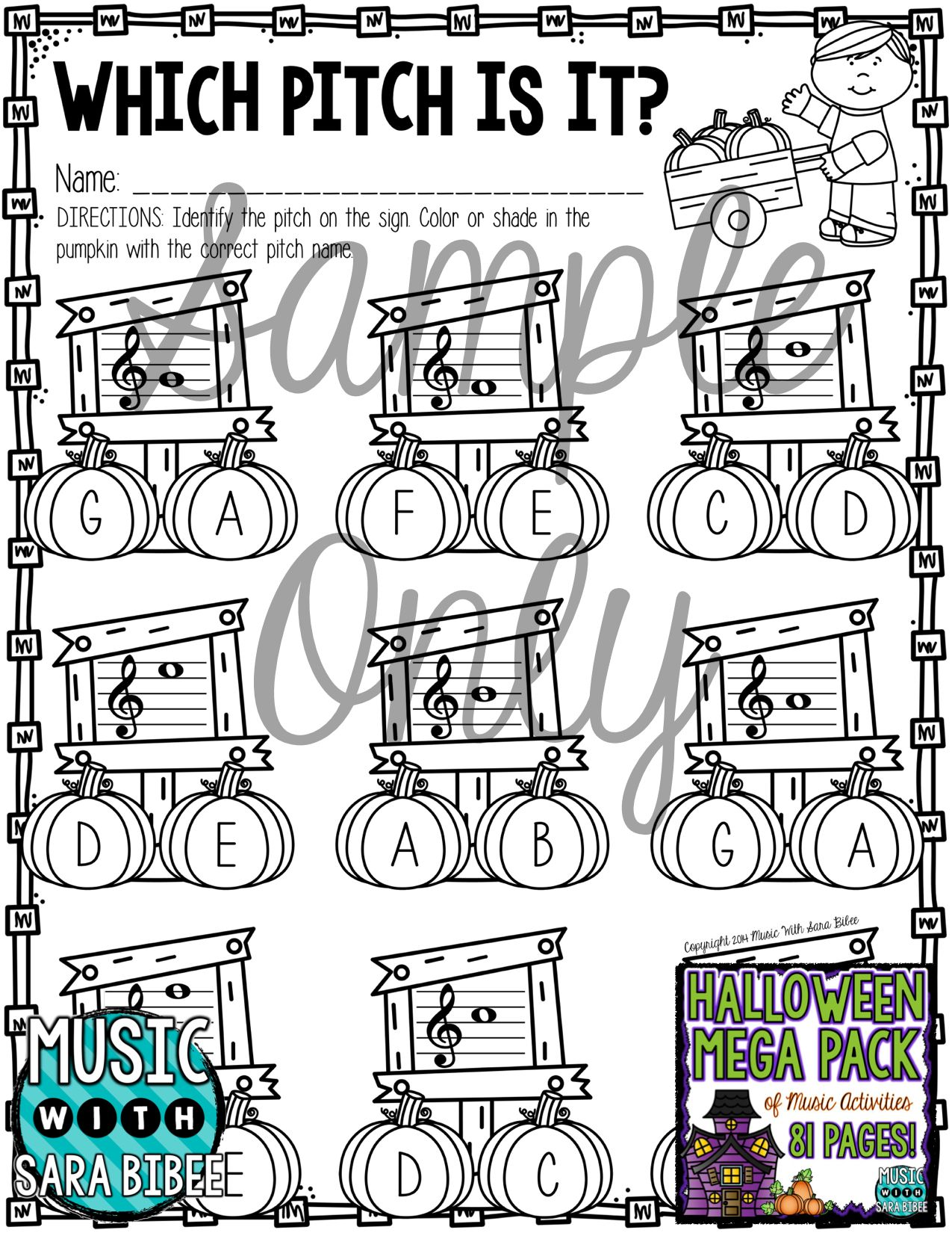 Halloween Mega Pack Of Music Worksheets 81 Pages