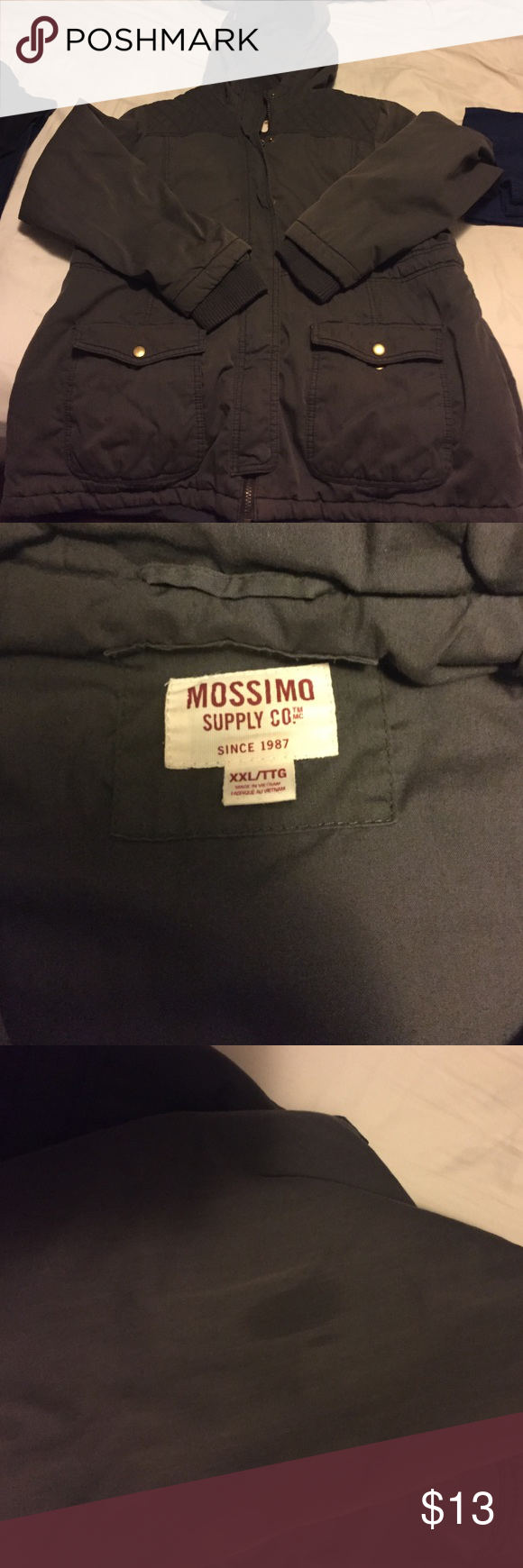 Mossimo grey winter coat Worn for 1 season. Has small stain on arm. I'm sure it can be removed but I just haven't tried to Mossimo Supply Co. Jackets & Coats
