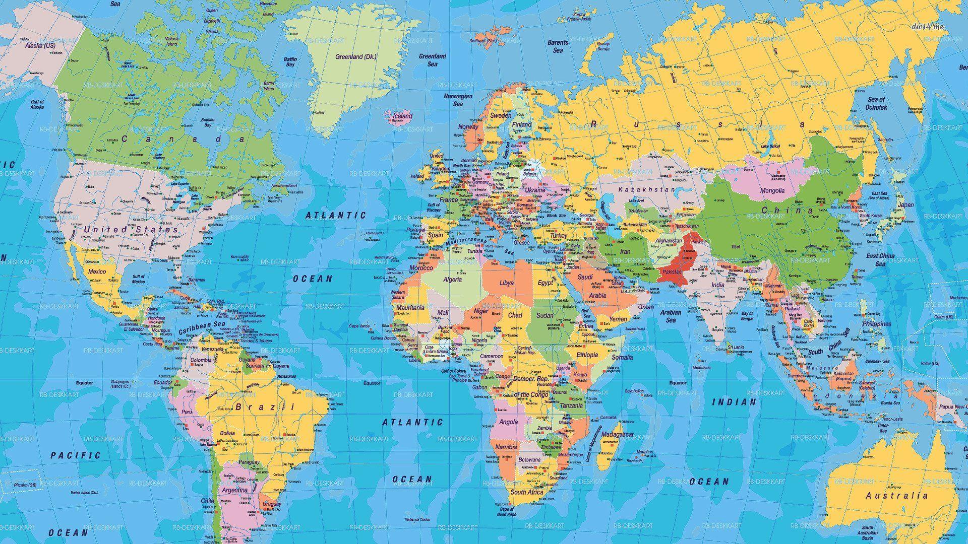 Cartina Mondo Maps.World Political Map Mappa Del Mondo Geografia Mondo Mappa Dell Italia