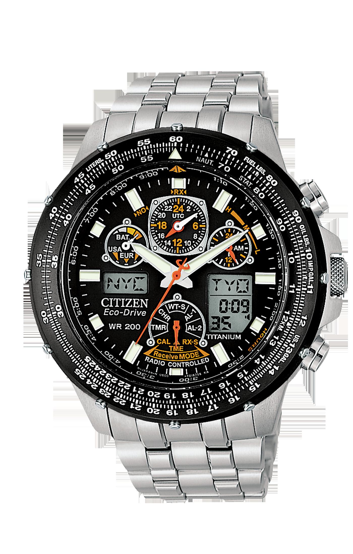 62c16f49643 Citizen Eco-Drive Skyhawk A-T JY0010-50E Atomic Timekeeping ...