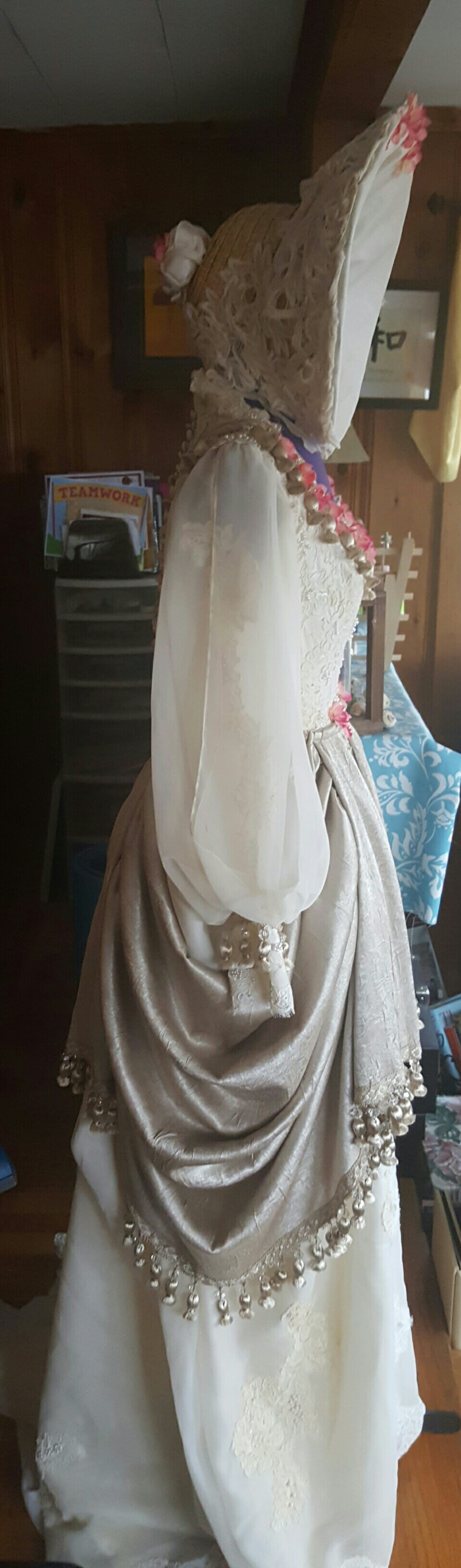 Southern belle wedding dresses  Side view Refashioned an old wedding gown into a post Civil War