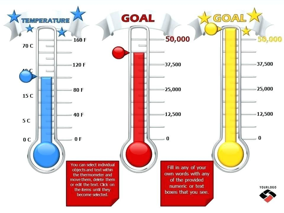 Thermometer Goal Chart Excel Template Download Unique Photos Thermometer Chart Template Goal Therm Thermometer Goal Chart Goal Thermometer Templates Goal Chart