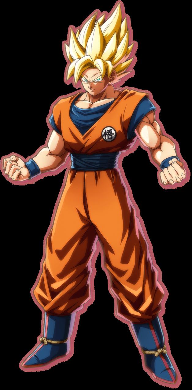 Dragon Ball Fighterz Son Goku The Super Saiyan By Thevibegod Anime Dragon Ball Super Dragon Ball Dragon Ball Super Goku
