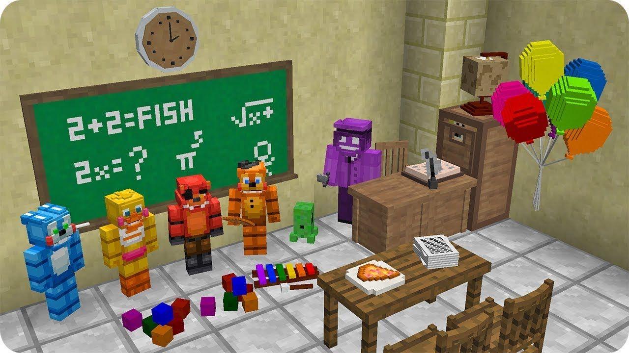 Escuela De Animatronicos Fnaf En Minecraft Youtube