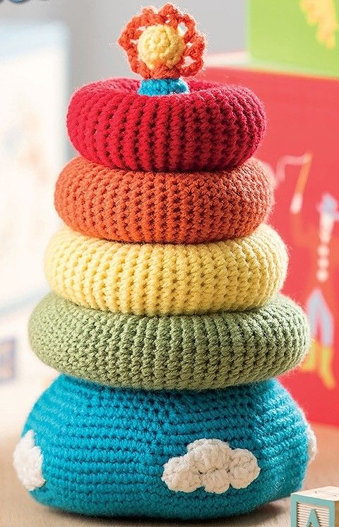 6 Easy to Crochet Toys for Baby - Baby Stackables in 2018 | Craft ...