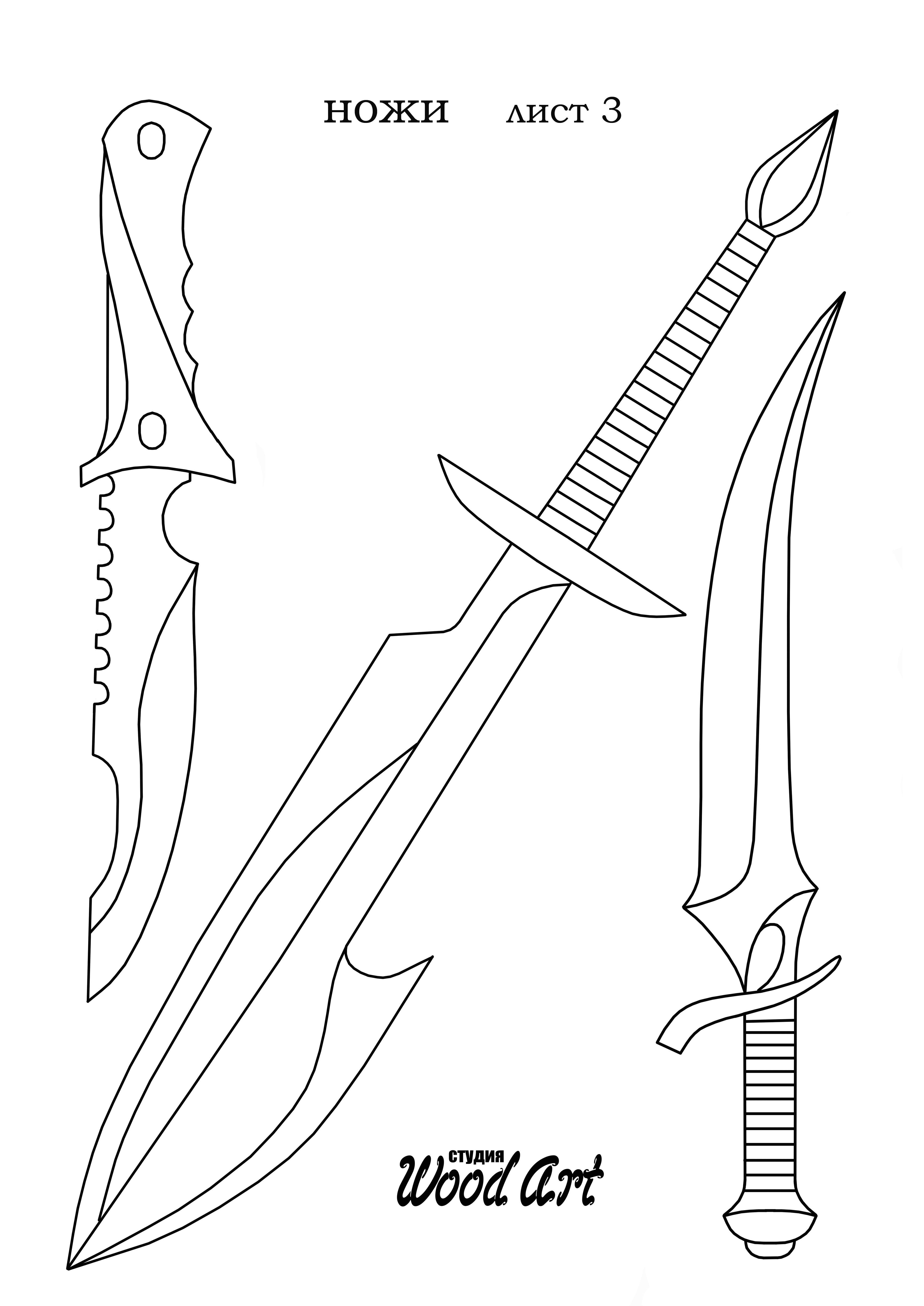 мультфильма рисунок ножей для выпиливания из фанеры списки