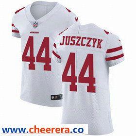 e1d285e90 Nike San Francisco 49ers  44 Kyle Juszczyk White Men s Stitched NFL Vapor  Untouchable Elite Jersey