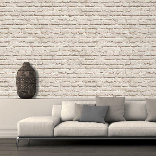 Papier Peint Brique Pour Un Salon De Style Industriel Papier Peint