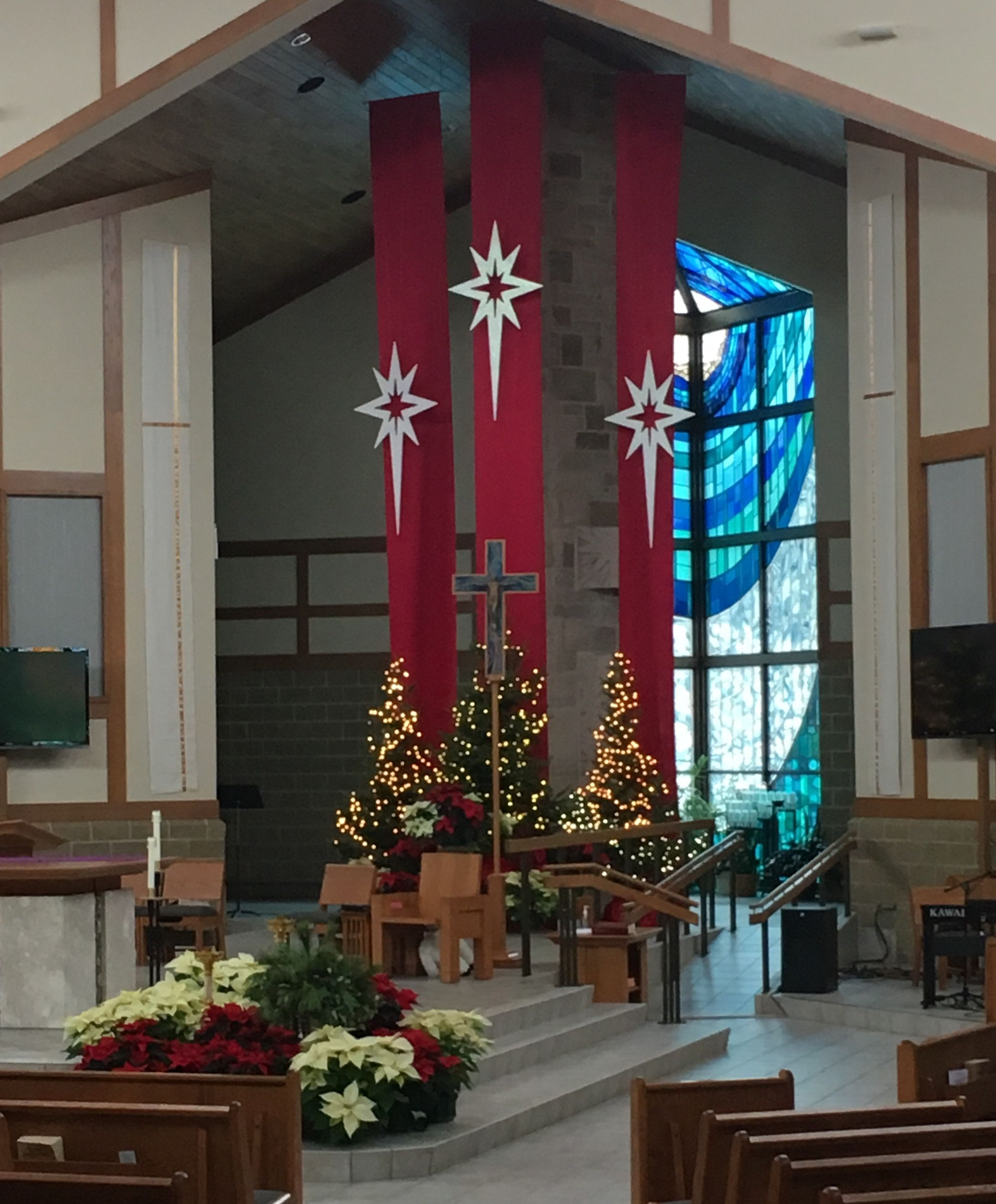 Alter Decoration: For Chapel Advent Deco 2018