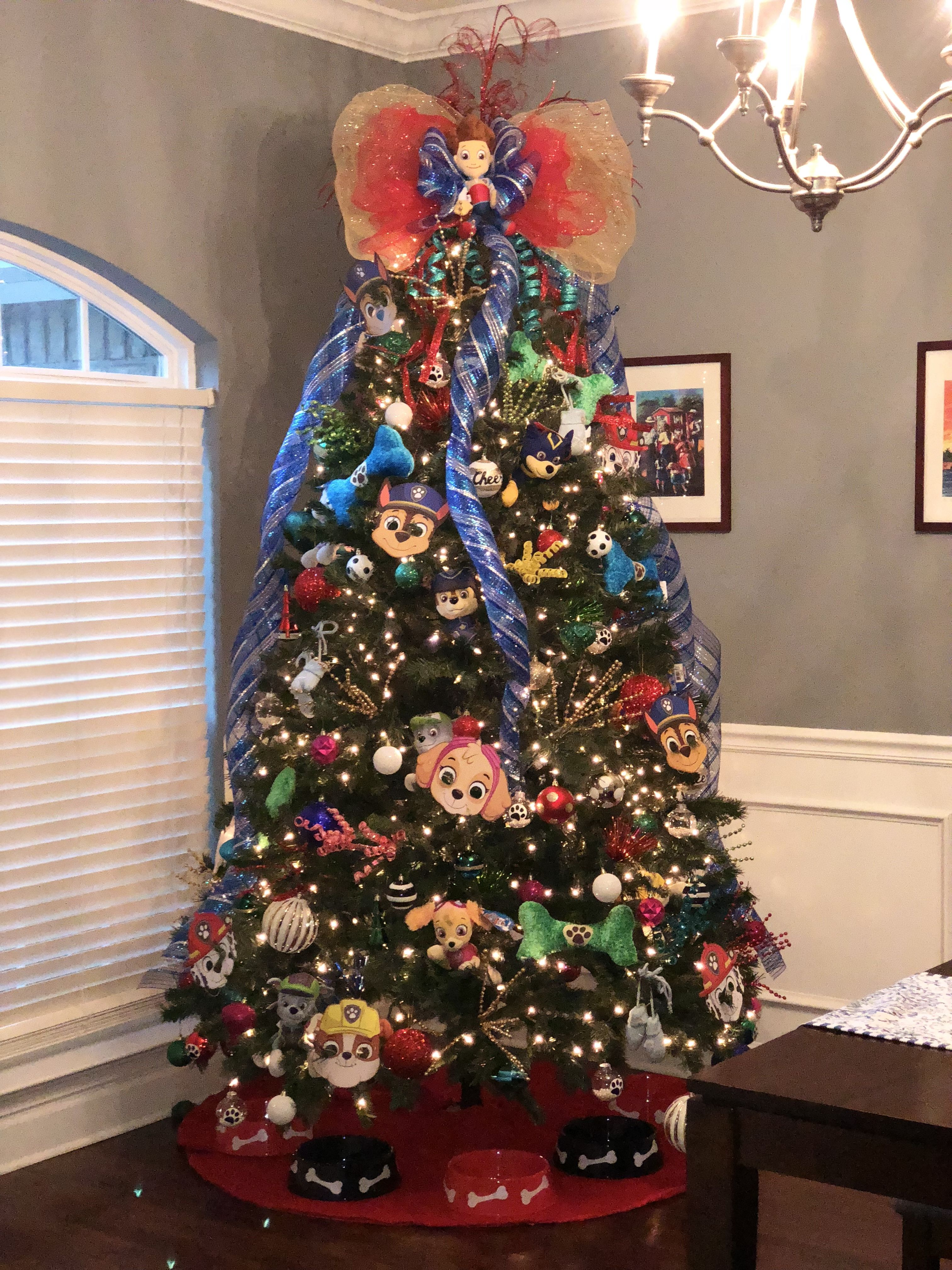 Paw patrol christmas tree navidad 2017 rboles de for Decoracion christmas navidenos