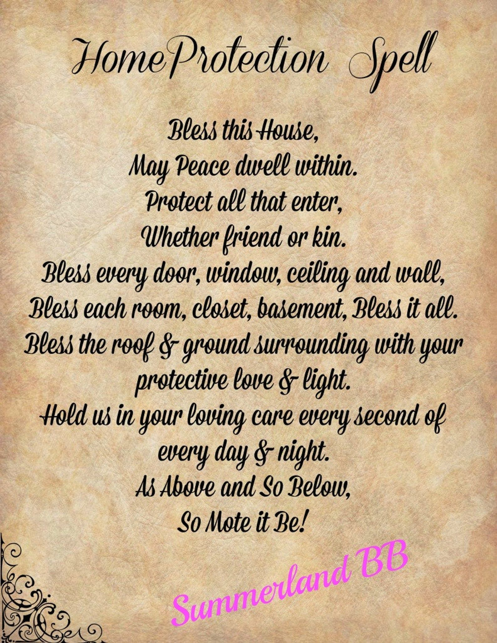 Home Protection Blessing Spell Digital Download Book Of Shadows Pages Wiccan Witch Spells Bos Home Protection Ritual Blessing Spells Witchcraft Wiccan Spell Book Protection Spells