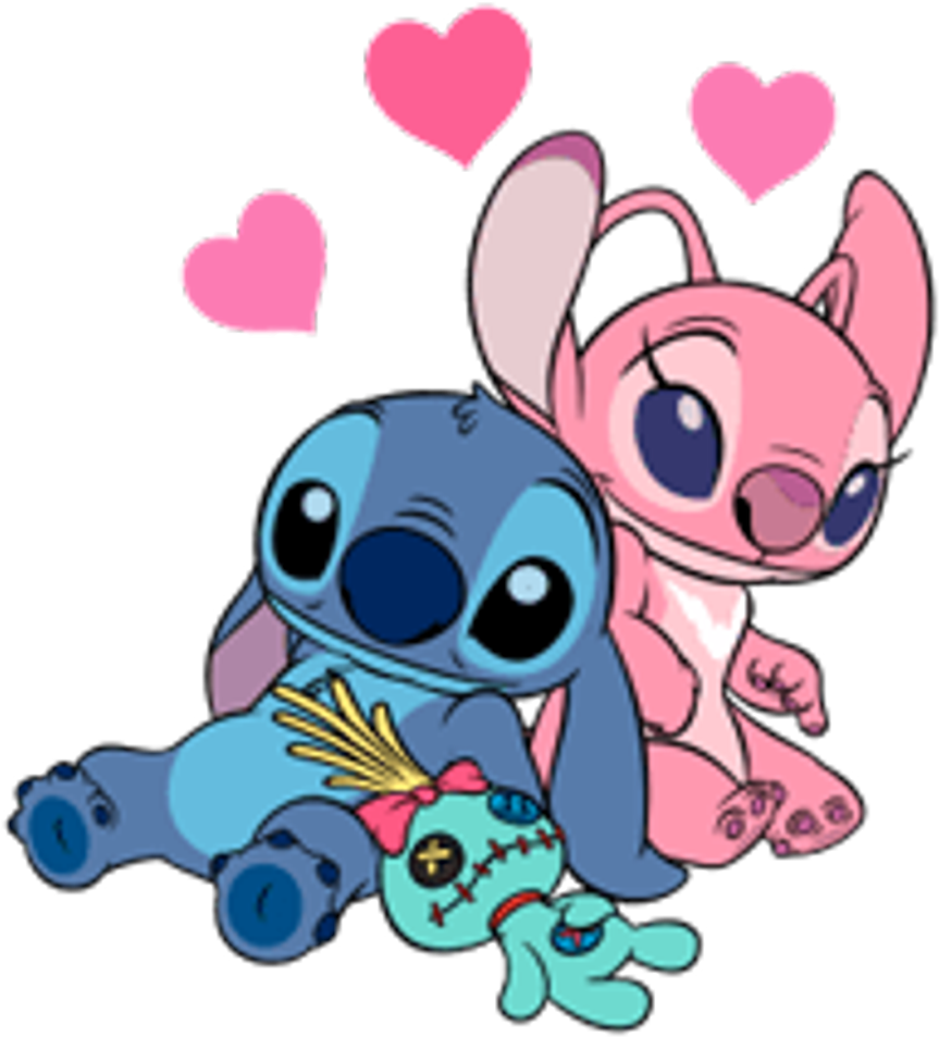 Google Image Result For Https Www Pinclipart Com Picdir Big 391 3911363 Stitch Liloandstich Love Cute Disney In 2020 Lilo And Stitch Stitch And Angel Stitch Drawing
