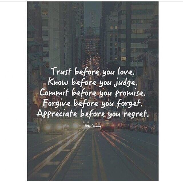 In love u must trust!