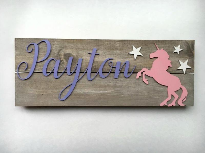 Unicorn Nursery Sign, Unicorn room, Unicorn nursery, Custom Nursery Sign, Nursery Name sign,