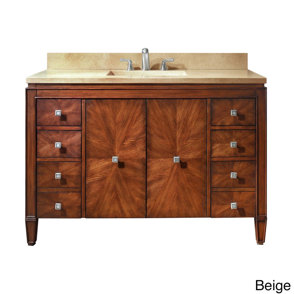 Shopping for bathroom vanities - Avanity Brentwood 49 Inch Single Vanity In New Walnut With Sink And Top By Avanity