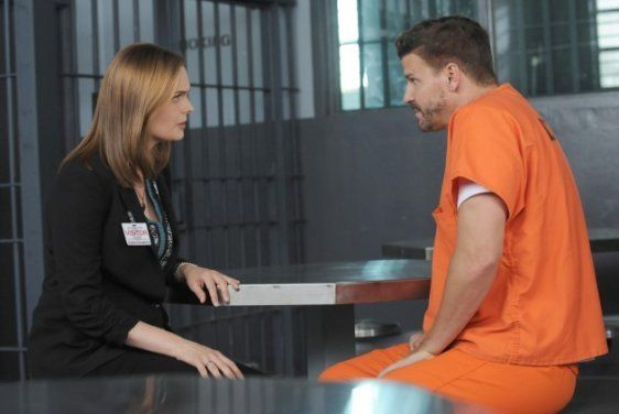 Brennan Visits Booth In Jail Bones Season 10 Episode 1 Bones Season 10 Booth And Bones Bones Tv Series