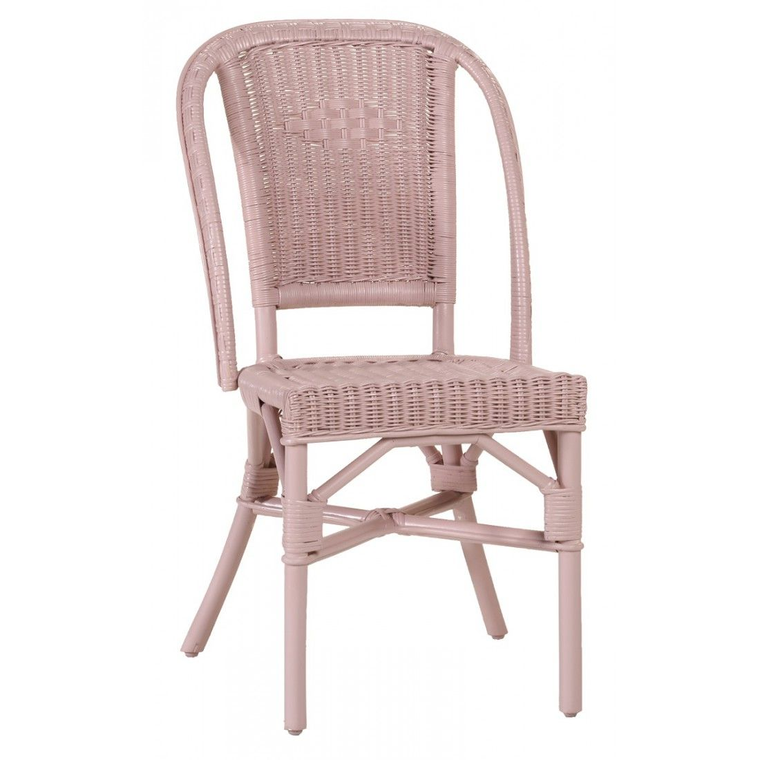 Chaise rotin rose bonbon albertine chaise en rotin kok for Chaise rotin tresse