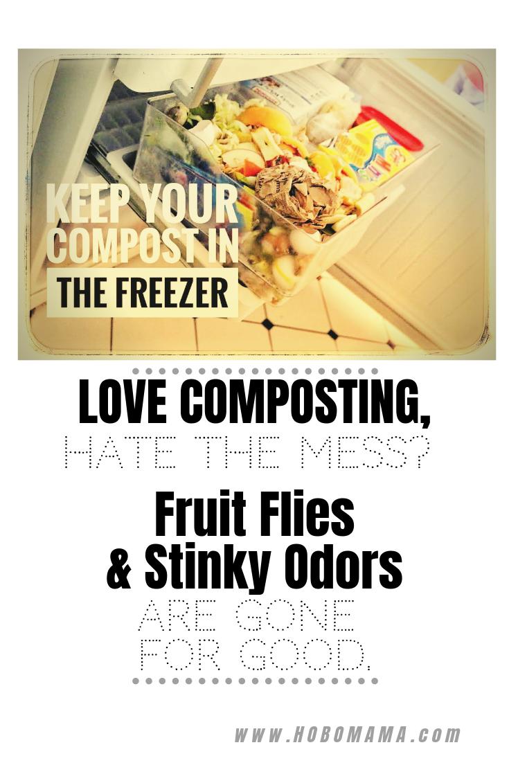 Keep Your Kitchen Scraps In The Freezer Prevent Fruit Flies Odors Fruit Flies Compost Freezer
