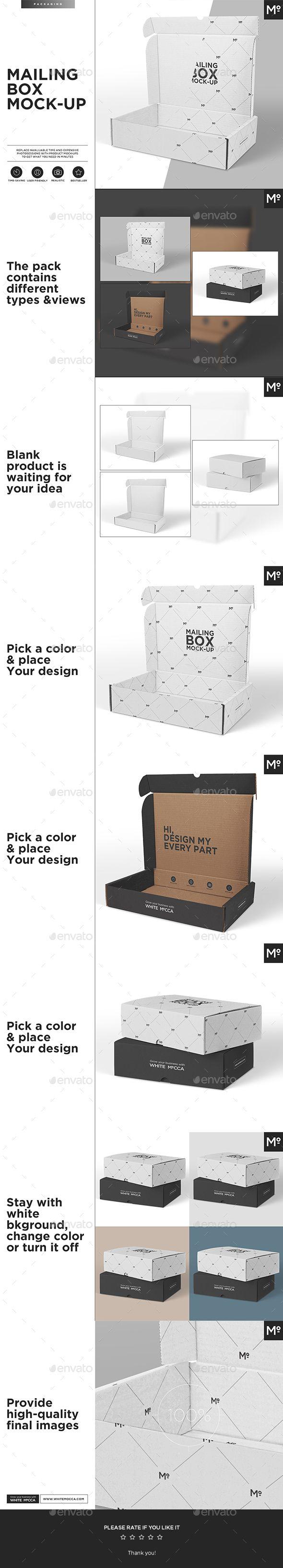 Print Mockup - Mailing Box Mock-up - Print Mockup by Mocca2Go.  #TuesdayThoughts #UserInterface #UIUX #WebElements #TuesdayWisdom #BlackFriday #Vectors #PresentationTemplate#TuesdayFeeling #HappyTuesday  #CyberMonday #Graphic #DesignTemplate #Logo #TuesdayMotivation