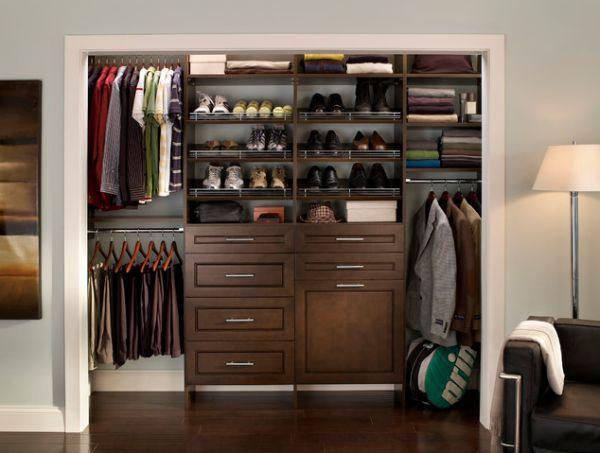 Clothes Storage Solutions That Work Well For Men Diy Closet Shelves Wood Closet Organizers Closet Organization Designs Bedroom storage ideas mens