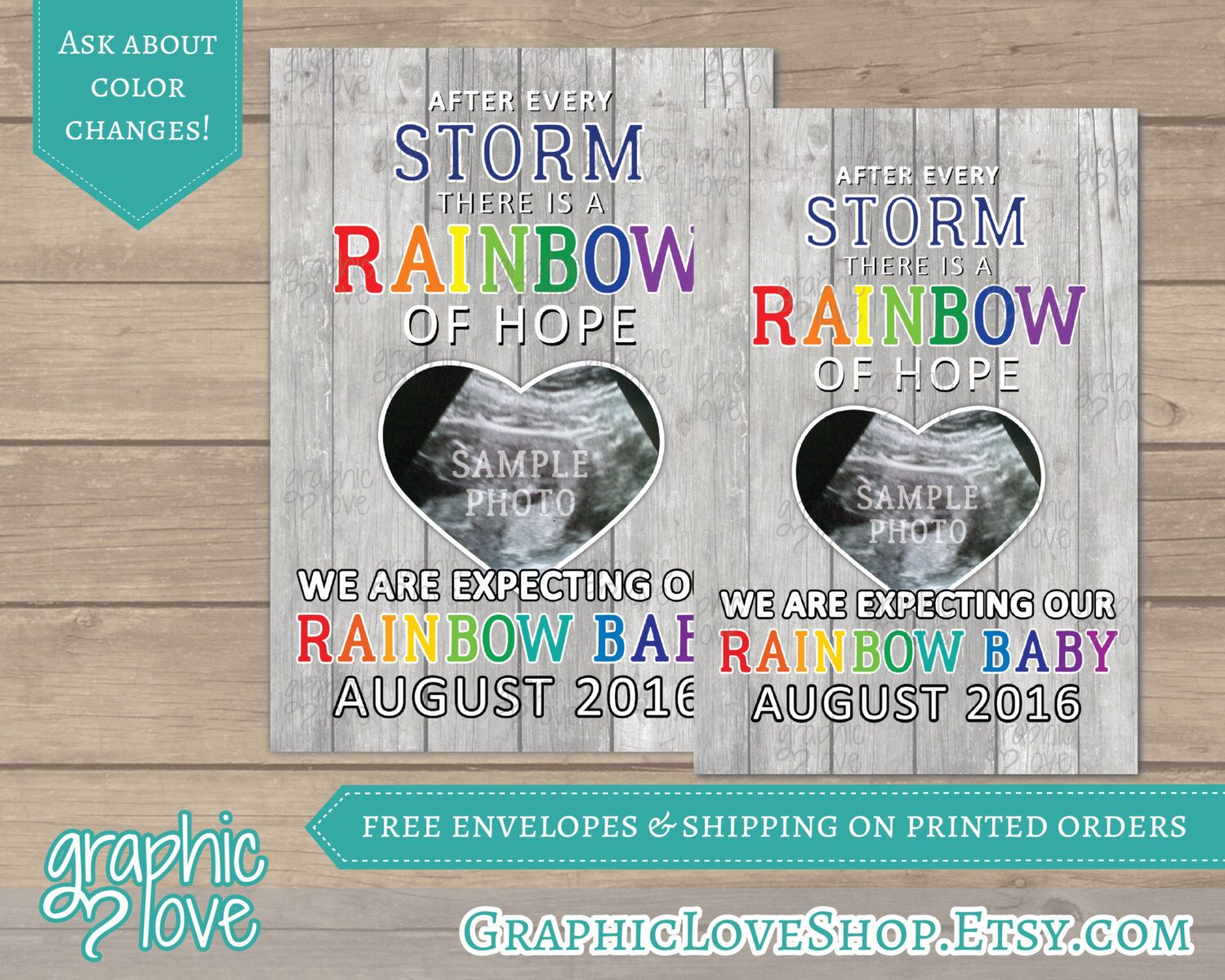 Personalized Rainbow Of Hope Rainbow Baby Pregnancy Announcement