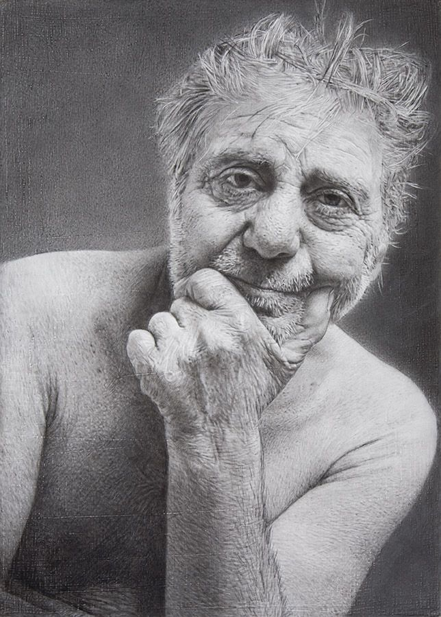 Drawing by Javier  Arizabalo  -- Pencil on wood