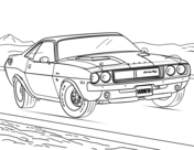 1970 Dodge Challenger Coloring Page Cars Coloring Pages Race Car Coloring Pages Coloring Pages